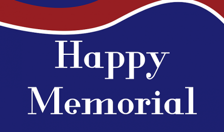 Memorial Day- Monday, May 29th- School Closed